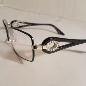 CHRISTIAN DIOR frame eyeglasses  BLACK